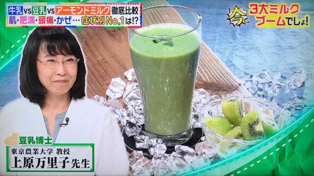 豆乳とキウイのグリーンスムージー